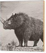 The Woolly Rhinoceros Is An Extinct Wood Print