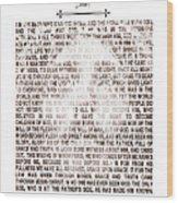 The Word Became Flesh Wood Print