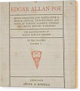The Works Of Edgar Allan Poe Wood Print