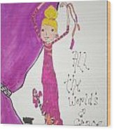 The World's A Stage Wood Print by Mary Kay De Jesus