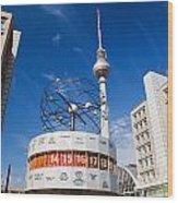 The Worldtime Clock Alexanderplatz Berlin Germany Wood Print