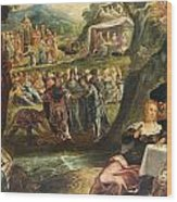 The Worship Of The Golden Calf Wood Print