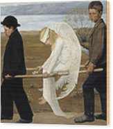 The Wounded Angel  Wood Print