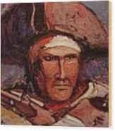 The Wounded Patriot Wood Print by R W Goetting
