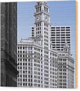 The Wrigley - A Building That Is Pure Chicago Wood Print
