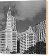 The Wrigley Building Chicago Wood Print