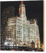 The Wrigley Building-chicago Wood Print