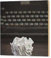 The Writer Wood Print