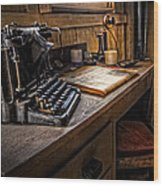 The Writer's Desk Wood Print