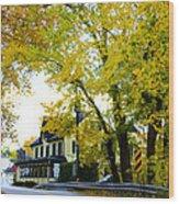 The Yardley Inn In Autumn Wood Print
