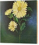The Yellow Daisy Wood Print