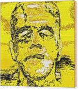 The Yellow Monster Wood Print