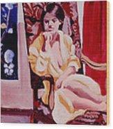 The Yellow Robe Wood Print