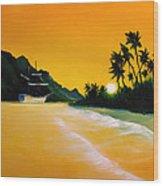 The Yellow Sea Wood Print