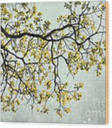 The Yellow Tree Wood Print by Sharon Coty