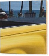 The Yellow Truck Wood Print