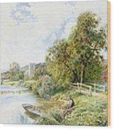 The Young Angler Wood Print