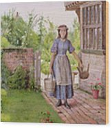 The Young Milkmaid Wood Print by George Goodwin Kilburne