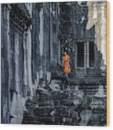 The Young Monk Wood Print