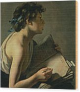 The Young Poet Wood Print