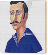 The Young Sailor Wood Print