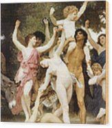The Youth Of Bacchus Detail Wood Print