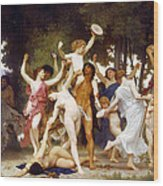 The Youth Of Bacchus Wood Print