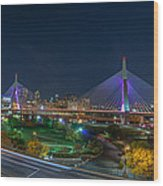 The Zakim Bridge Wood Print
