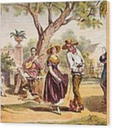 The Zapateado - National Dance, 1840 Wood Print