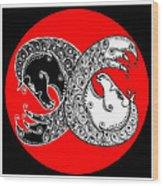 The Zen Of Horses Wood Print