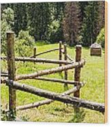 The Zig-zag Fence Wood Print