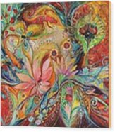 The Zodiac Signs Wood Print by Elena Kotliarker