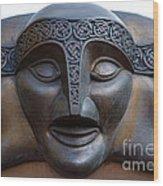Theater Mask Wood Print
