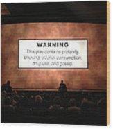 Theater Night In New York Wood Print
