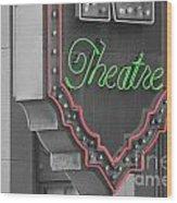 Theatre Wood Print