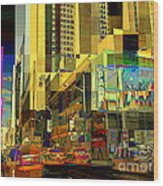 Theatre District - Neighborhoods Of New York City Wood Print