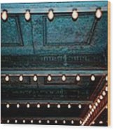 Theatre Lights Wood Print