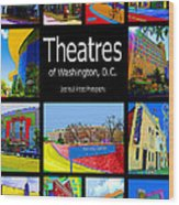 Theatres Of Washington Dc Wood Print by Jost Houk