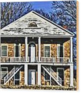 Thebes Courthouse Wood Print