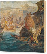 The Crusader Invasion Of Constantinople Wood Print