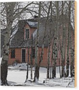 Thee Old Pink House Wood Print