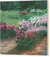 Thelma Steel's Garden Wood Print by Ron Bowles