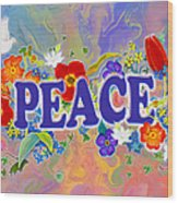 Themes Of The Heart-peace Wood Print