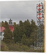 Grand Traverse Lights - Then And Now Wood Print