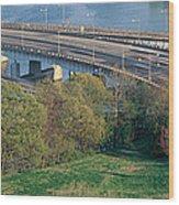 Theodore Roosevelt Bridge, Washington Wood Print