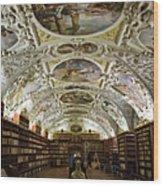 Theological Hall Strahov Monastery Wood Print