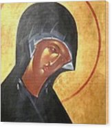 Theotokos Wood Print