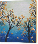 There Is Calmness In The Gentle Breeze Wood Print