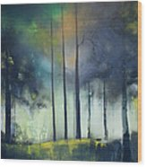 There Is Light At The End Of The Woods Wood Print