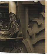 These Boots 1 Sepia Wood Print